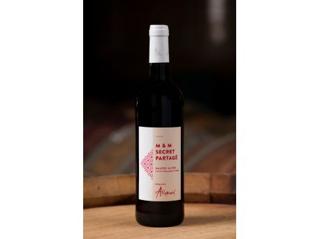 "Vin rouge ""M&M secret partagé"" 75cl"